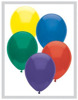 11 INCH ROYAL RICH PARTYMATE LATEX BALLOON ASSORTMENT 100 BAG AQ11ARR