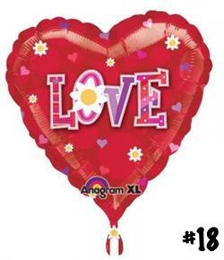Love Daisy Heart Shape Balloon 13389 love daisy-18
