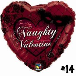 Naughty Valentine Heart Balloon 16730-V14