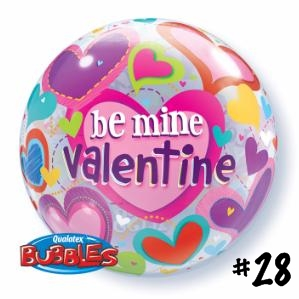 BE MINE VALENTINES HEART 22 INCH BUBBLE W40095 - 28