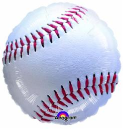 Baseball Shape 18 Inch Mylar Balloon 117030