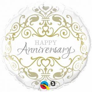 18 Inch Anniversary Classic Mylar Balloon 36491