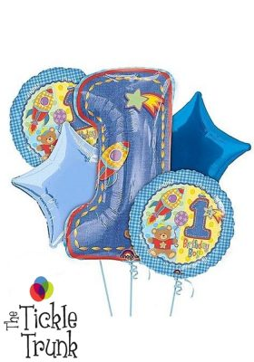 1ST Birthday Boy Hugs & Stitches Balloon Bouquet FB-02 14847