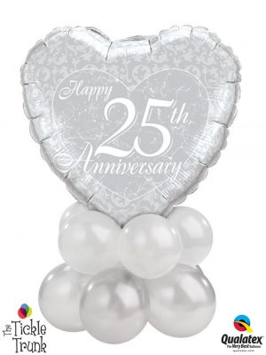 25th Anniversary Mini Table Topper Balloon Centrepiece AN-07