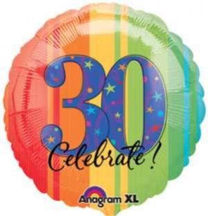 30 YEAR TO CELEBRATE 18 INCH MYLAR BALLOON 119821