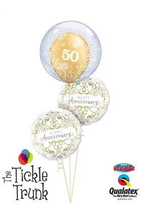 50th Anniversary Filigree Balloon Bouquet AN-04