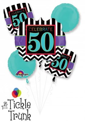 50th Birthday Celebration Balloon Bouquet AR-04 28828