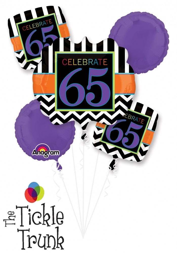 65th Birthday Celebration Balloon Bouquet AR 6 28830