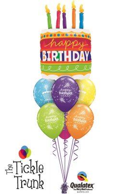 Birthday Cake & Candles Balloon Bouquet BK-11