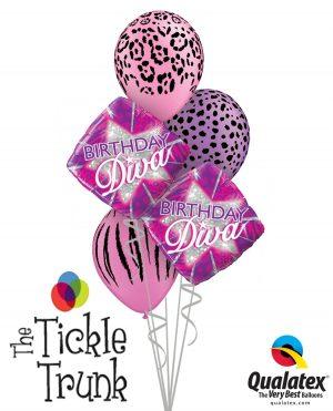 Birthday Diva Diamond Balloon Bouquet BK-07