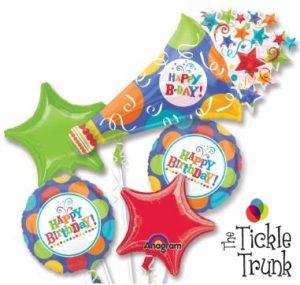 Birthday Fever Horn Balloon Bouquet BK-17 F25226