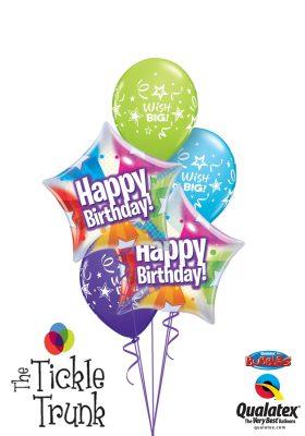 Birthday Star Shape Bubble Balloon Bouquet BK-08