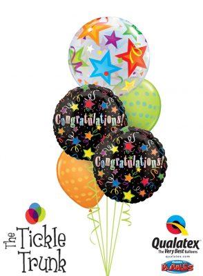 Congratulations Stars Bubble Balloon Bouquet CG-04