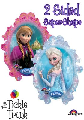 Disney SuperShape Frozen Balloon 25w x 31h 28162 2 sided