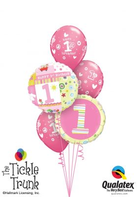 Hallmark 1st Birthday Girl Balloon Bouquet FB-04