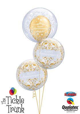 Happy Anniversary Filigree Balloon Bouquet AN-02