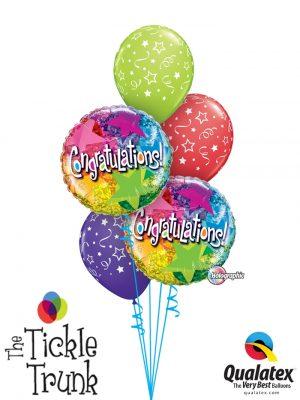 Holographic Congratulations Balloon Bouquet CG-02