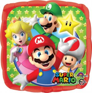 Mario Bros & Friends 18 INch Mylar Balloon 32008