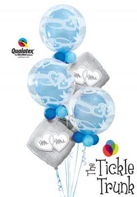 Mr. & Mrs. Tie the Knot Bubble Bouquet WD-03