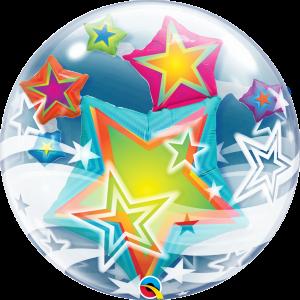 Multicolored Stars Insider Bubble Balloon 11962