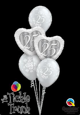 Silver-RIFFIC 25th Anniversary Balloon Bouquet AN-05