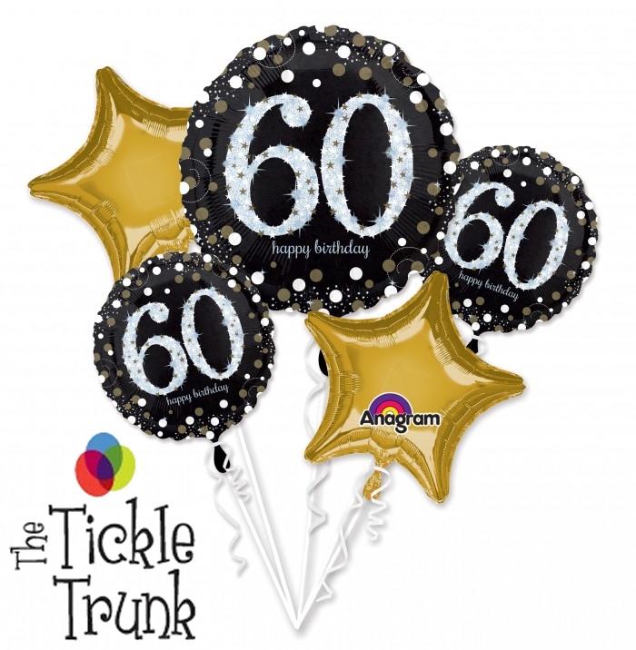 Sparkling 60th Birthday Balloon Bouquet AR 10 32147
