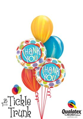 Thank You Dots & Swirls Balloon Bouquet TX-01