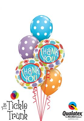 Thank you Dots Balloon Bouquet TX-02