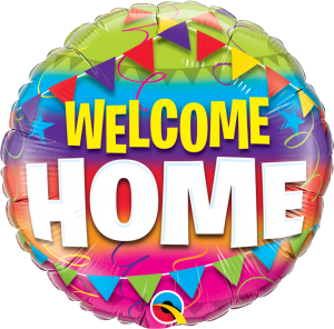 Welcome Home Pennants Mylar Balloon 45243
