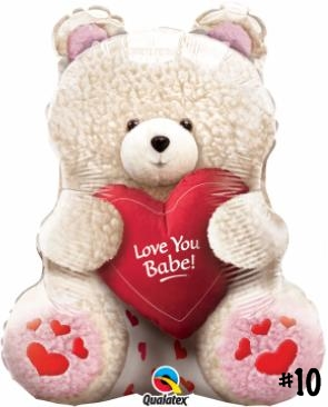LOVE YOU BABE BEAR 24 INCH SHAPE MYLAR W16735 – 10