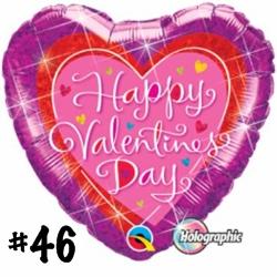 VALENTINES DAZZLING HEARTS 18 INCH MYLAR