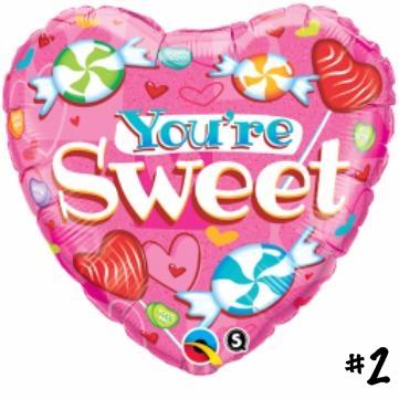 YOURE SWEET 18 INCH FOIL HEART W65091 - 2